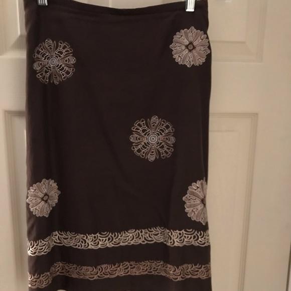 LOFT Dresses & Skirts - Ann Taylor Loft vintage A-line embroidered skirt